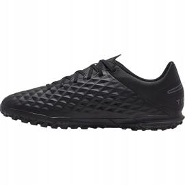 Buty piłkarskie Nike Tiempo Legend 8 Club Tf AT6109 010 czarne czarne 1