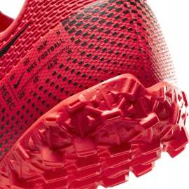 Buty piłkarskie Nike Mercurial Vapor 13 Academy Tf Junior AT8145 606 czerwone czerwone 6