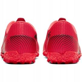Buty piłkarskie Nike Mercurial Vapor 13 Academy Tf Junior AT8145 606 czerwone czerwone 4