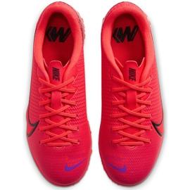 Buty piłkarskie Nike Mercurial Vapor 13 Academy Tf Junior AT8145 606 czerwone czerwone 1