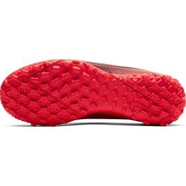 Buty piłkarskie Nike Mercurial Vapor 13 Academy Tf Junior AT8145 606 czerwone czerwone 8