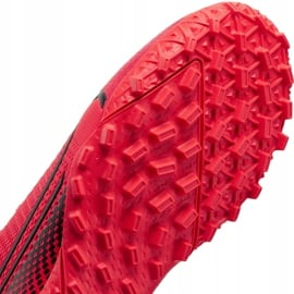 Buty piłkarskie Nike Mercurial Vapor 13 Academy Tf Junior AT8145 606 czerwone czerwone 7