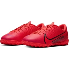 Buty piłkarskie Nike Mercurial Vapor 13 Academy Tf Junior AT8145 606 czerwone czerwone 3