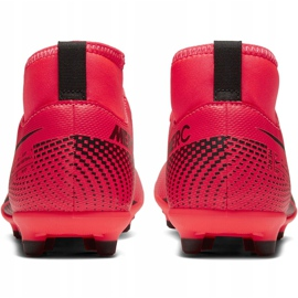 Buty piłkarskie Nike Mercurial Superfly 7 Club FG/MG Junior AT8150 606 czerwone czerwone 4