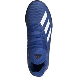 Buty piłkarskie adidas X 19.3 Tf Junior EG7172 niebieskie niebieskie 2