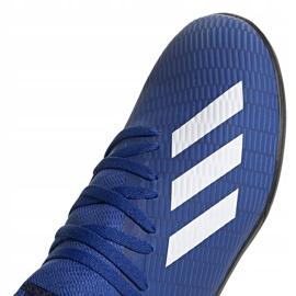 Buty piłkarskie adidas X 19.3 Tf Junior EG7172 niebieskie niebieskie 3