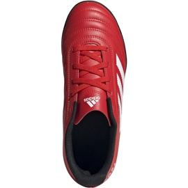 Buty piłkarskie adidas Copa 20.4 Tf czerwone Junior EF1925 1