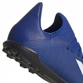 Buty piłkarskie adidas X 19.3 Tf Junior EG7172 niebieskie niebieskie 4