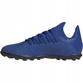 Buty piłkarskie adidas X 19.3 Tf Junior EG7172 niebieskie niebieskie 1