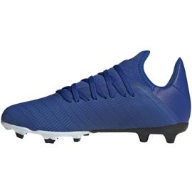 Buty piłkarskie adidas X 19.3 Fg Junior EG7152 niebieskie niebieskie 1