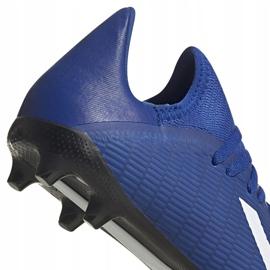 Buty piłkarskie adidas X 19.3 Fg Junior EG7152 niebieskie niebieskie 4