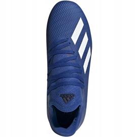 Buty piłkarskie adidas X 19.3 Fg Junior EG7152 niebieskie niebieskie 2