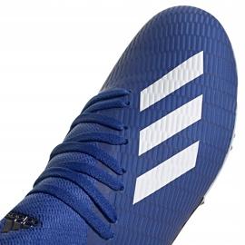 Buty piłkarskie adidas X 19.3 Fg Junior EG7152 niebieskie niebieskie 3
