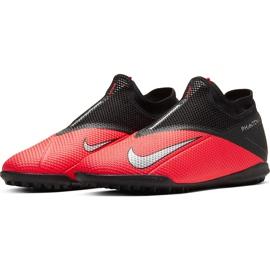 Buty piłkarskie Nike Phantom Vsn 2 Academy Df Tf CD4172 606 czerwone czerwone 3