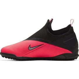 Buty piłkarskie Nike Phantom Vsn 2 Academy Df Tf Junior CD4078 606 czerwone czerwone 2