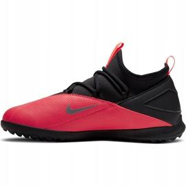 Buty piłkarskie Nike Phantom Vsn 2 Club Df Tf Junior CD4079 606 czerwone czerwone 2