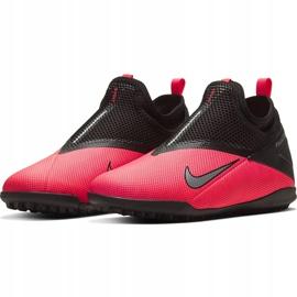 Buty piłkarskie Nike Phantom Vsn 2 Academy Df Tf Junior CD4078 606 czerwone czerwone 3