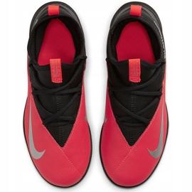 Buty piłkarskie Nike Phantom Vsn 2 Club Df Tf Junior CD4079 606 czerwone czerwone 1