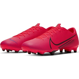 Buty piłkarskie Nike Mercurial Vapor 13 Academy FG/MG AT5269 606 czerwone czerwone 3