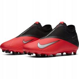 Buty piłkarskie Nike Phantom Vsn 2 Academy Df FG/MG CD4156 606 czerwone czerwone 3