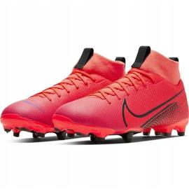 Buty piłkarskie Nike Mercurial Superfly 7 Academy FG/MG Junior AT8120 606 czerwone czerwone 3