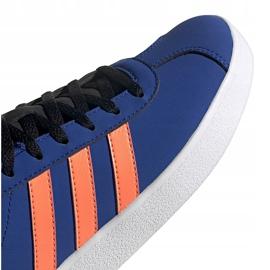 Buty dla dzieci adidas Vl Court 2.0 K niebieskie EG2003 3