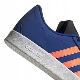 Buty dla dzieci adidas Vl Court 2.0 K niebieskie EG2003 5