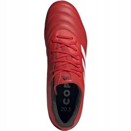 Buty piłkarskie adidas Copa 20.3 Fg czerwone G28551 2