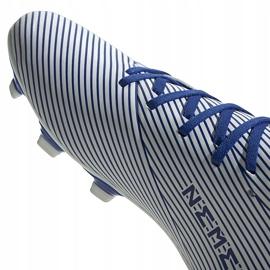Buty piłkarskie adidas Nemeziz 19.4 FxG biało-niebieskie EF1707 wielokolorowe 3
