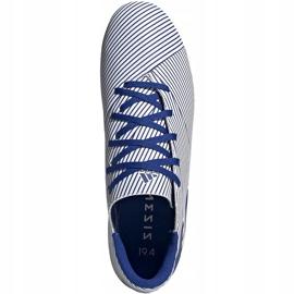 Buty piłkarskie adidas Nemeziz 19.4 FxG biało-niebieskie EF1707 wielokolorowe 2