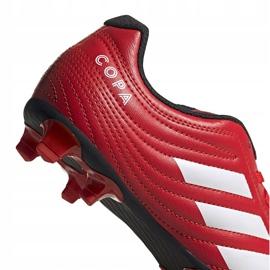 Buty piłkarskie adidas Copa 20.4 Fg Junior czerwone EF1919 4