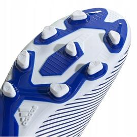Buty piłkarskie adidas Nemeziz 19.4 FxG biało-niebieskie EF1707 wielokolorowe 5