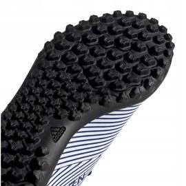 Buty piłkarskie adidas Nemeziz 19.4 Tf Junior biało-niebieskie FV3313 wielokolorowe 4