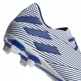 Buty piłkarskie adidas Nemeziz 19.4 FxG biało-niebieskie EF1707 wielokolorowe 4