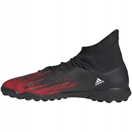 Buty piłkarskie adidas Predator 20.3 Tf czarno-czerwone EF2208 czarne wielokolorowe 2