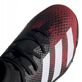 Buty piłkarskie adidas Predator 20.3 Tf czarno-czerwone EF2208 czarne wielokolorowe 3