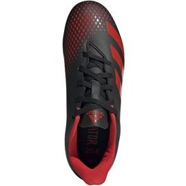 Buty piłkarskie adidas Predator 20.4 FxG Jr EF1931 czarne wielokolorowe 1