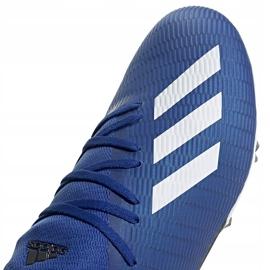 Buty piłkarskie adidas X 19.3 Fg niebieskie EG7130 niebieski,biały 2