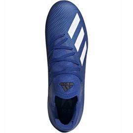 Buty piłkarskie adidas X 19.3 Fg niebieskie EG7130 niebieski,biały 1