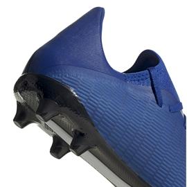 Buty piłkarskie adidas X 19.3 Fg niebieskie EG7130 niebieski,biały 6