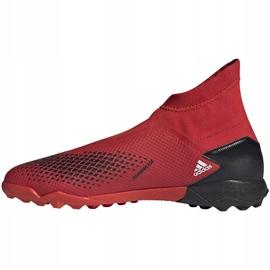 Buty piłkarskie adidas Predator 20.3 Ll Tf EE9576 czerwony,biały czerwone 2