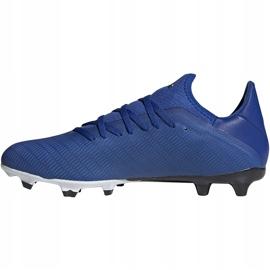 Buty piłkarskie adidas X 19.3 Fg niebieskie EG7130 niebieski,biały 3