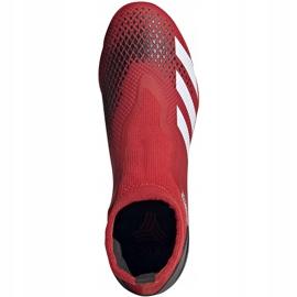Buty piłkarskie adidas Predator 20.3 Ll Tf EE9576 czerwony,biały czerwone 1
