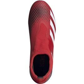 Buty piłkarskie adidas Predator 20.3 Ll Fg EE9554 czerwone czerwone 1