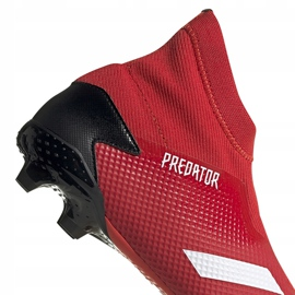 Buty piłkarskie adidas Predator 20.3 Ll Fg EE9554 czerwone czerwone 4