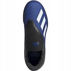 Buty piłkarskie adidas X 19.3 Ll Tf Jr EG9839 niebieskie niebieskie 2