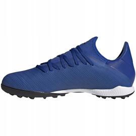 Buty piłkarskie adidas X 19.3 Tf EG7155 niebieskie niebieskie 1