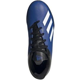 Buty piłkarskie adidas X 19.4 Tf Jr FV4662 niebieskie niebieskie 1