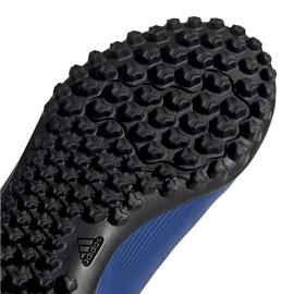 Buty piłkarskie adidas X 19.4 Tf Jr FV4662 niebieskie niebieskie 5