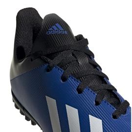 Buty piłkarskie adidas X 19.4 Tf Jr FV4662 niebieskie niebieskie 4